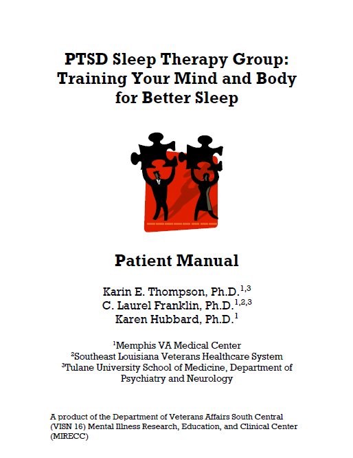 PTSD sleep therapy manual