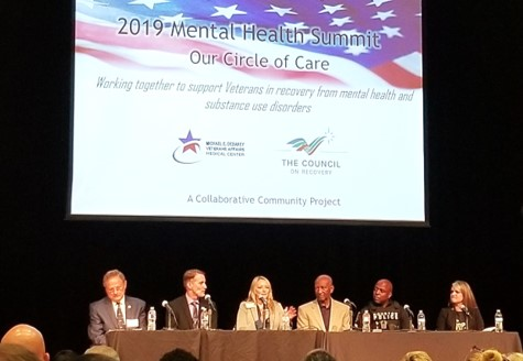 Dr. Lindsay presenting with the summit panel.