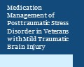 Typographic with the words Medication Management of PTSD in Veterans with mTBI