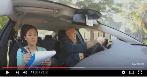 Screenshot from the Driving and Dementia Video
