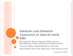 Smoking and Smoking Cessation in Adults with SMI