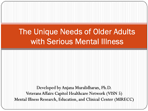 The Unique Needs of Older Adults with SMI