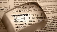 Image of the Dictionary Definition of Research