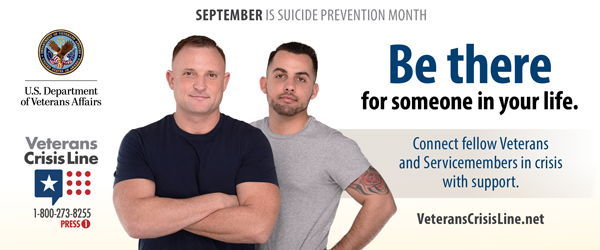 BE There September is National Suicide Prevention Month